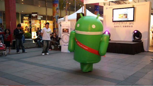Android tanzt