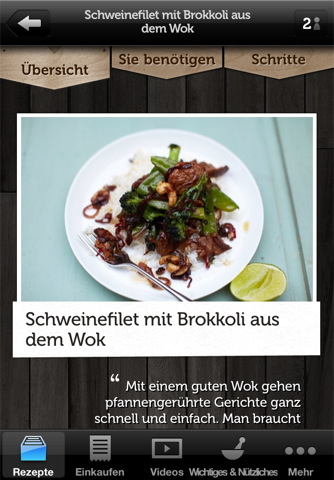 Recipes - Jamie Oliver App