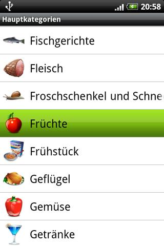 Die Android App Rezepte