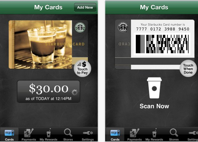 iPhone App Starbuck Card Mobile