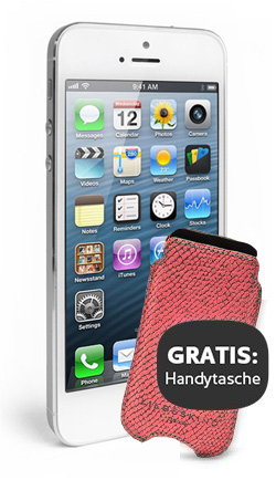 apple iphone 5 16gb wei silber mit liebeskind tasche handy mobile. Black Bedroom Furniture Sets. Home Design Ideas