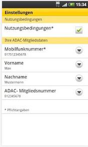 ADAC Pannenhilfe App Screenshots 3